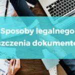 Sposoby legalnego niszczenia dokumentów