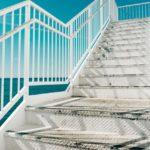 Stalowa konstrukcja schodów